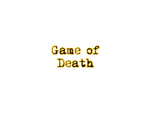 Game of Death title by Marten Go aka MGO